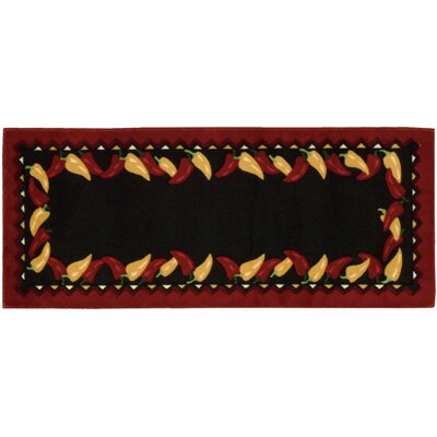 Saybrook Black/Red Novelty Rug