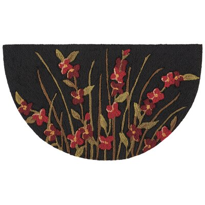 Shaunda Hand-Tufted Black/Red Novelty Rug