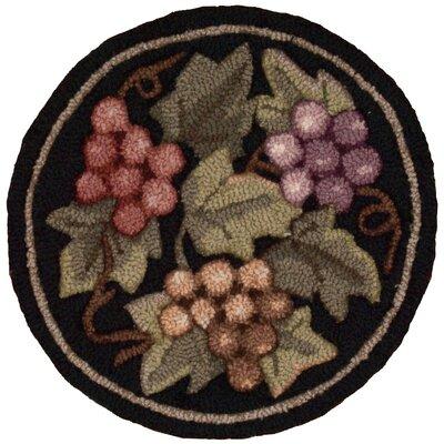 Rosemont Hand-Tufted Black/Brown Novelty Rug
