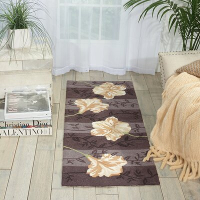 Shella Hand-Tufted Purple Area Rug