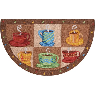 Shelli Hand-Tufted Brown Novelty Rug Rug Size: Wedge 17 x 28