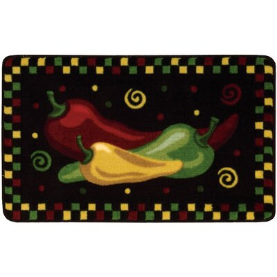 Shirly Black/Yellow Novelty Rug