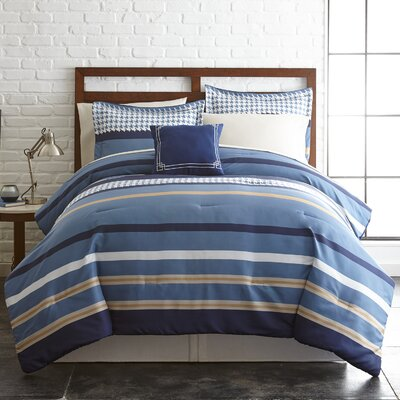 Oxford Reversible Comforter Set Size: King