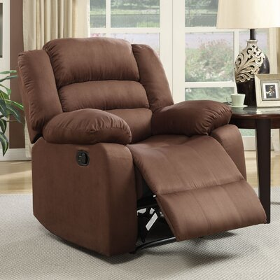 Parkmead Manual Recliner Upholstery: Chocolate