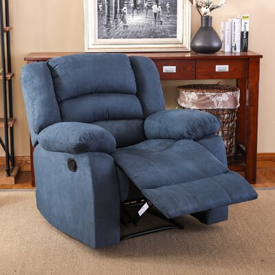 Parkmead Recliner Upholstery: Blue