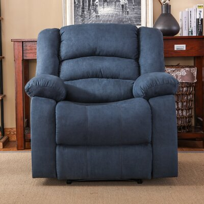 Parkmead Manual Recliner Upholstery: Chambray Blue