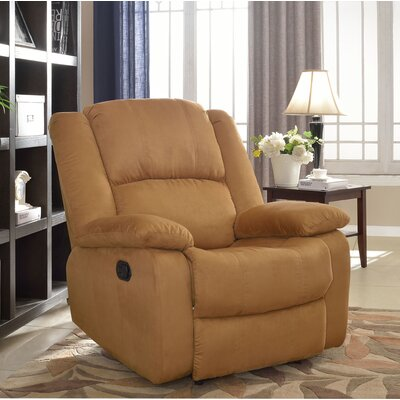 Parsonsfield Manual Wall Hugger Recliner Upholstery: Brown