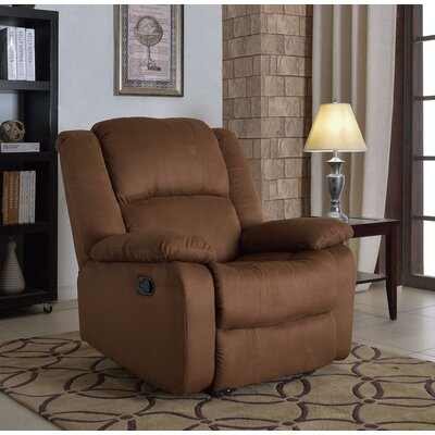 Parsonsfield Microfiber Recliner Upholstery: Chocolate