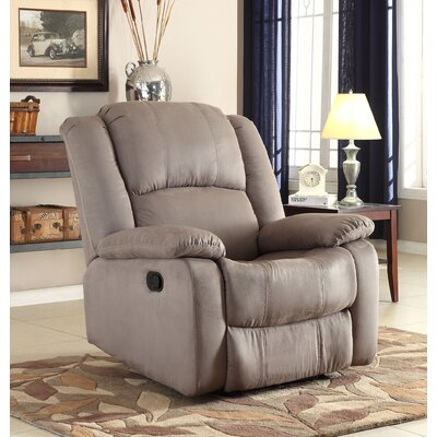 Parsonsfield Manual Wall Hugger Recliner Upholstery: Gray