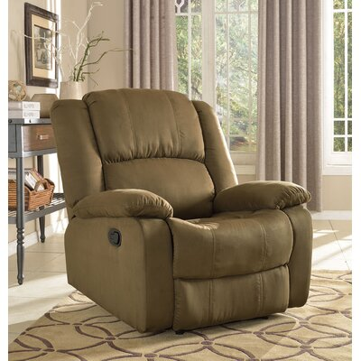 Parsonsfield Microfiber Recliner Upholstery: Moss Green