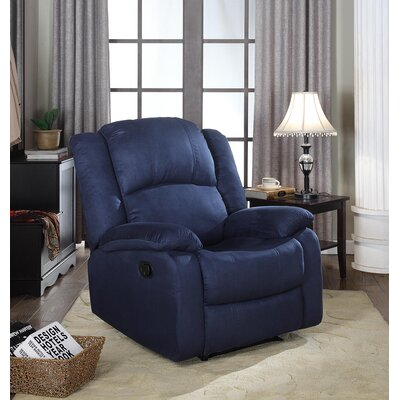 Parsonsfield Manual Wall Hugger Recliner Upholstery: Blue
