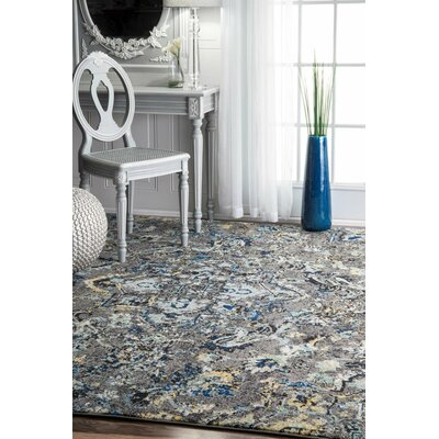 Stoneham Gray/Silver Area Rug Rug Size: Rectangle 67 x 9