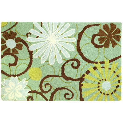 Lansdale Daisies On Blue Rug Rug Size: 110 x 210