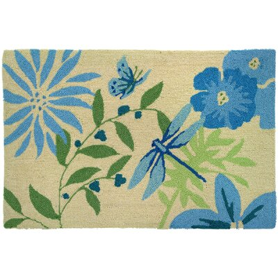 Lansdale Blue Butterfly and Dragonfly Area Rug Rug Size: 110 x 210