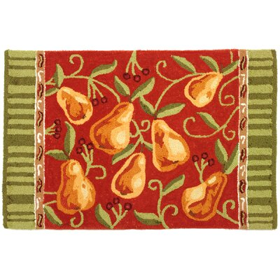 Sharleen Provence Pears Rug Rug Size: 110 x 210