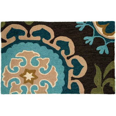 Lansdale Floral and Garden Suzanni Blue Rug Rug Size: 110 x 210