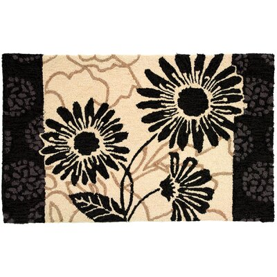Lansdale Influence Black/Cream Area Rug Rug Size: 110 x 210