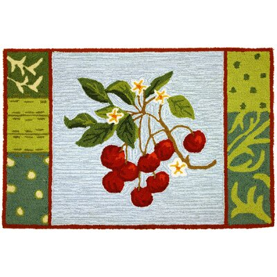 Sherilyn Cherry With Blossoms Area Rug Rug Size: 110 x 210