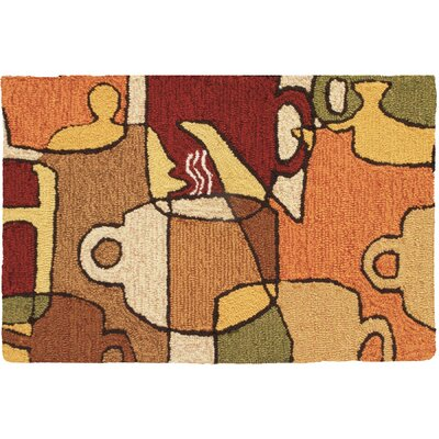 Lansdale Coffee Collage Novelty Rug Rug Size: Rectangle 110 x 210