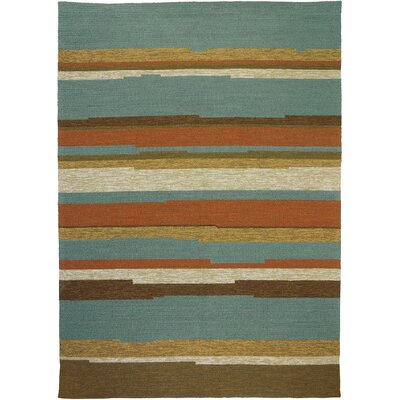 Roswell Stripe Indoor/Outdoor Area Rug Rug Size: 5 x 7
