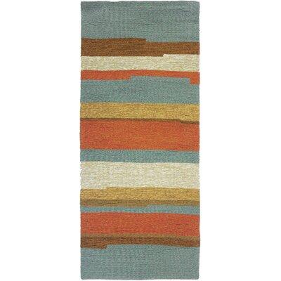 Roswell Stripe Indoor/Outdoor Area Rug Rug Size: Runner 22 x 5