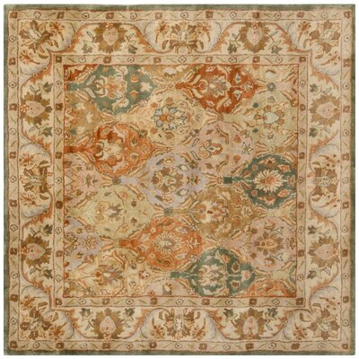 Albertine Hand-Tufted Multi Area Rug Rug Size: Square 6