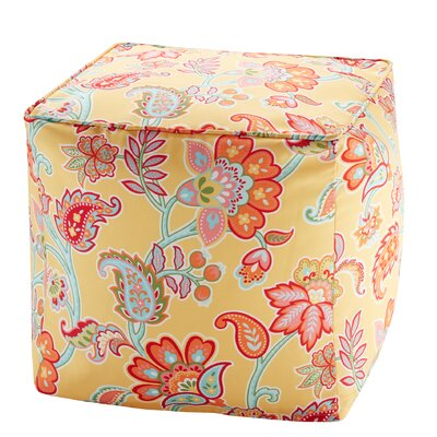 Perrysburg Floral 3M Scotchgard Ottoman Upholstery: Yellow