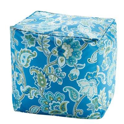 Perrysburg Floral 3M Scotchgard Ottoman Upholstery: Blue