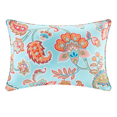 Perrysburg Floral 3M Scotchgard Outdoor Lumbar Pillow Color: Aqua