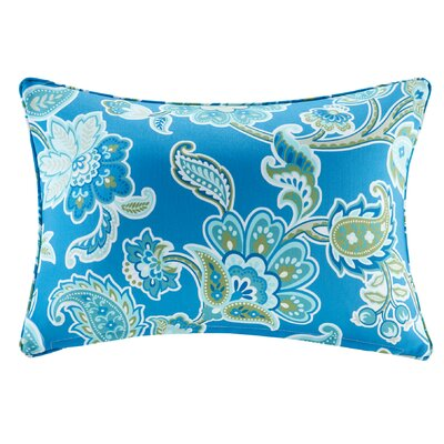 Perrysburg Floral 3M Scotchgard Outdoor Lumbar Pillow Color: Blue