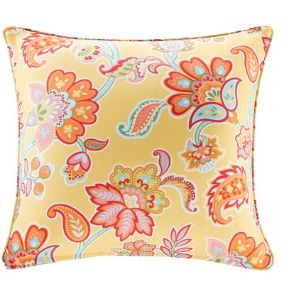 Perrysburg Floral 3M Scotchgard Outdoor Throw Pillow Color: Yellow