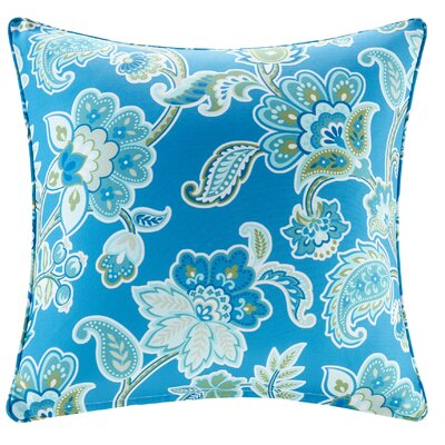 Perrysburg Floral 3M Scotchgard Outdoor Throw Pillow Color: Blue