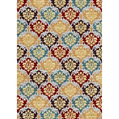 Peterlee Taj Orange/Red Area Rug Rug Size: Rectangle 3 x 5