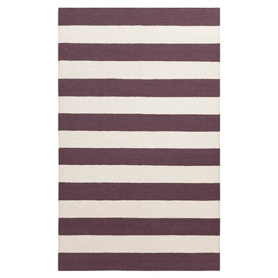 Kramer Franklin Raisin/White Area Rug Rug Size: Rectangle 36 x 56