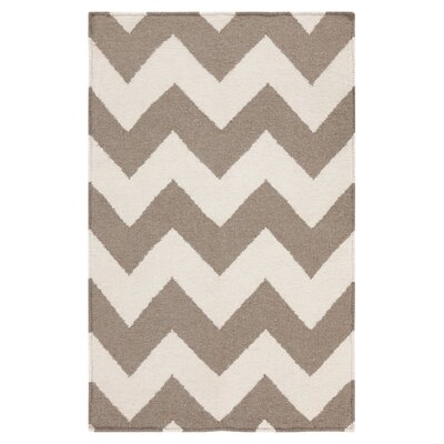 Ketner Chevron Brown Area Rug Rug Size: 8 x 11