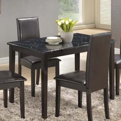 Elsa Dining Table Finish: Black/White
