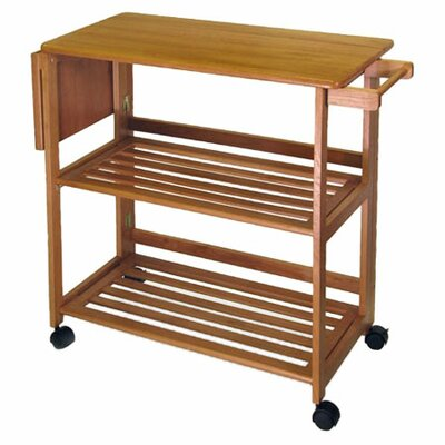 Lavina Kitchen Island with Wood Top