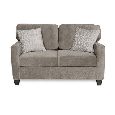 Doric Loveseat Upholstery Color: Fusion Platinum