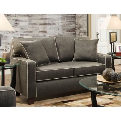 Abbot Loveseat Upholstery: Charcoal