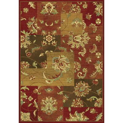 Trinway Mahal Views Red Area Rug Rug Size: 53 x 77