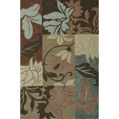 Medina Taupe Damask Views Rug Rug Size: 33 x 53