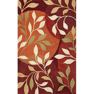 Bradshaw Mosaic Rust Area Rug Rug Size: Rectangle 23 x 39