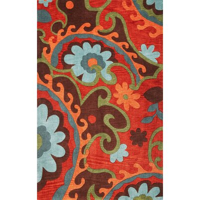 Bradshaw Serafena Red Area Rug Rug Size: Rectangle 5 x 8