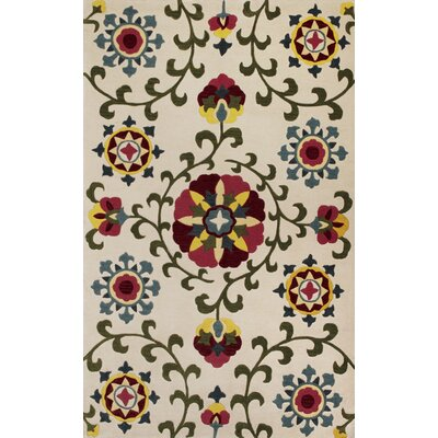 Bradshaw Suzani Ivory Area Rug Rug Size: Rectangle 5 x 8