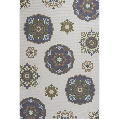 Fitzgibbons Natural Mosaic Indoor/Outdoor Area Rug Rug Size: 81 x 112