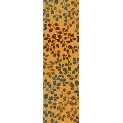 Caton Sand Foliage Area Rug Rug Size: Runner 23 x 71
