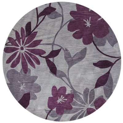 Bradshaw Gray/Plum Elegance Area Rug Rug Size: Rectangle 8 x 10
