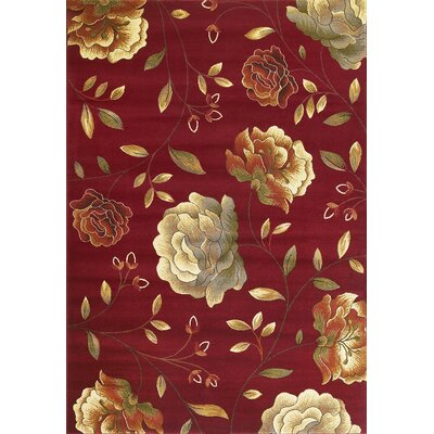 Winters Red Capri Area Rug Rug Size: 53 x 77