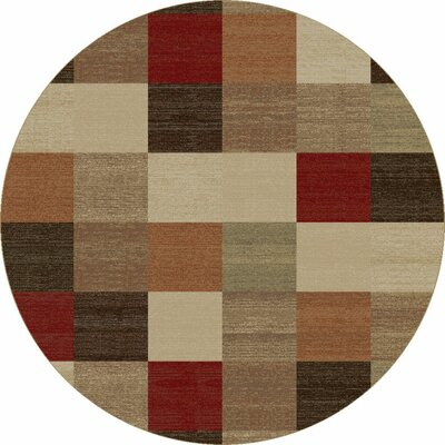 Winters Beige Squares Rug Rug Size: Rectangle 53 x 77