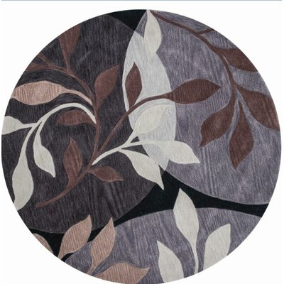 Bradshaw Plum/Black Mosaic Area Rug Rug Size: Rectangle 33 x 53